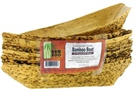 "Image of Bamboo Studio - Bamboo Dinnerware Bamboo Boat Reusable Disposable 8.5"" - 12 Pack"