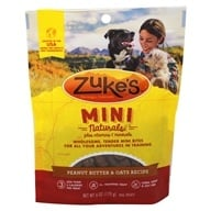 Zuke's - Mini Naturals Dog Treats Fresh Peanut Butter Formula - 6 oz. by Zuke's