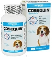 Cosequin - Bonelets Hip & Joint Support Supplement for Dogs - 85 Chewable Tablets (755970407310)
