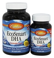 Image of Carlson Labs - Norwegian EcoSmart DHA Lemon Flavored 500 mg. - Bonus Pack 60 + 20 Softgels Formerly CalaDHA from Calamari 1000 mg.