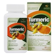 Genceutic Naturals - Organic Turmeric 300 mg. - 60 Capsules, from category: Herbs