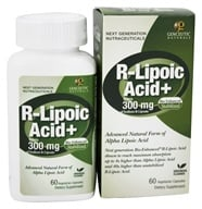 Genceutic Naturals - Bio-Enhanced Natural R-Lipoic Acid 300 mg. - 60 Vegetarian Capsules by Genceutic Naturals