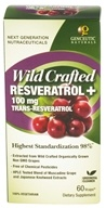 Genceutic Naturals - Wild Crafted Resveratrol 100 mg. - 60 Vegetarian Capsules CLEARANCE PRICED - $14