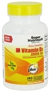 Super Nutrition - Vitamin D3 2500 IU - 150 Tablets