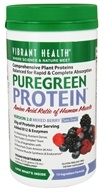 Vibrant Health - Pure Green Protein Powder Mixed Berry - 16 oz., from category: Nutritional Supplements