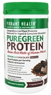 Vibrant Health - Pure Green Protein Powder Chocolate - 17.23 oz.