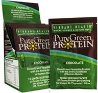 Vibrant Health - Pure Green Protein Powder Single Serving Packet Chocolate - 1.01 oz., from category: Nutritional Supplements