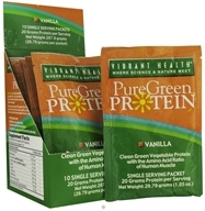Vibrant Health - Pure Green Protein Powder Single Serving Packet Vanilla - 1.01 oz., from category: Nutritional Supplements