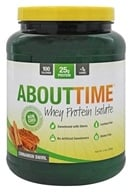 About Time - Whey Protein Isolate Cinnamon Swirl - 2 lbs. (837654129364)