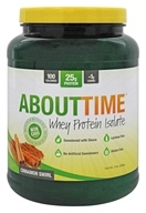 About Time - Whey Protein Isolate Cinnamon Swirl - 2 lbs., from category: Sports Nutrition
