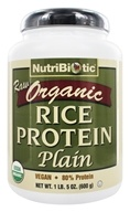 Nutribiotic - Organic Vegan Rice Protein Plain Flavor - 1.5 lbs. by Nutribiotic
