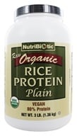 Nutribiotic - Organic Vegan Rice Protein Plain Flavor - 3 lbs. (728177030018)
