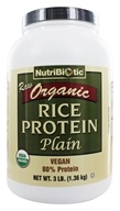Nutribiotic - Organic Vegan Rice Protein Plain Flavor - 3 lbs. by Nutribiotic
