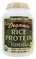 Nutribiotic - Organic Vegan Rice Protein Vanilla - 1.5 lbs. by Nutribiotic