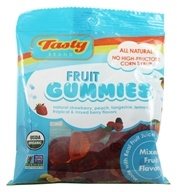 Image of Tasty Brand - Organic Gummy Fruit Snacks Bag Mixed Fruit Flavors - 2.75 oz.
