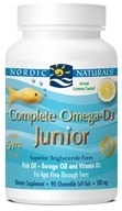Nordic Naturals - Complete Omega-D3 Junior Lemon 500 mg. - 90 Chewable Softgels (formerly Omega-3.6.9-D Junior), from category: Nutritional Supplements