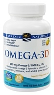 Nordic Naturals - Omega-3 D Formula Purified Fish Oil with Vitamin D Lemon 1000 mg. - 60 Softgels (768990017612)