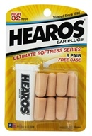 Image of Hearos - Ear Plugs Ultimate Softness Series 8 Pairs