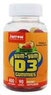 Jarrow Formulas - Yum-Yum D3 Gummies Orange Flavor 400 IU - 90 Chews - $7.05