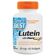Doctor's Best - Best Free Lutein featuring FloraGLO 20 mg. - 60 Softgels Formerly FloraGlo Free Lutein with Zeaxanthin (753950001923)