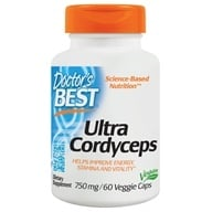 Doctor's Best - Ultra Cordyceps 750 mg. - 60 Vegetarian Capsules by Doctor's Best