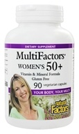 Natural Factors - MultiFactors Women's 50+ - 90 Vegetarian Capsules (068958015873)