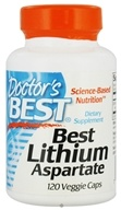 Doctor's Best - Best Lithium Aspartate 5 mg. - 120 Vegetarian Capsules
