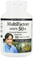 Natural Factors - MultiFactors Men's 50+ - 90 Vegetarian Capsules (068958015910)