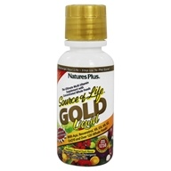 Image of Nature's Plus - Source Of Life Gold Liquid Ultimate Multi-Vitamin Delicious Tropical Fruit Flavor - 8 oz.