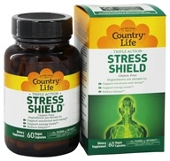 Country Life - Stress Shield - 60 Vegetarian Capsules - $14.39