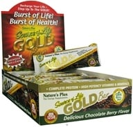 Image of Nature's Plus - Source Of Life Gold Bar Delicious Chocolate Berry Flavor - 1.7 oz.
