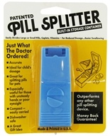 LGS Health Products - Patented Pill Splitter with Built-In Storage Container
