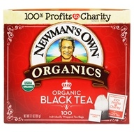 Newman's Own Organics - Organic Royal Black Tea - 100 Tea Bags by Newman's Own Organics
