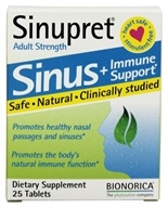 Bionorica - Sinupret + Breathe Sinus & Immune Support Herbal Supplement - 25 Tablets