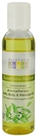Aura Cacia - Aromatherapy Bath, Body & Massage Oil Awakening Eucalyptus Harvest - 4 oz. CLEARANCE PRICED