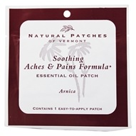 Natural Patches of Vermont - Soothing Aches & Pains Formula Essential Oil Body Patch Arnica - Formerly Naturopatch