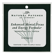 Natural Patches of Vermont - Enhanced Mental Focus and Energy Formula Essential Oil Patch Lemongrass - 1 Patch(es)