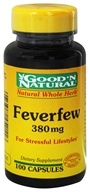 Good 'N Natural - Feverfew Natural Whole Herb For Stressful Lifestyles 380 mg. - 100 Capsules, from category: Herbs