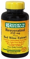 Image of Good 'N Natural - Resveratrol Plus Red Wine Extract Once Daily Formula 250 mg. - 60 Softgels