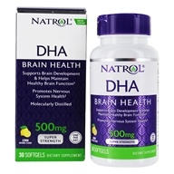 Image of Natrol - DHA 500 Super Strength Brain Support 500 mg. - 30 Softgels