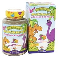 Kal - Dinosaurs MultiSaurus Vitamins & Minerals For Kids Berry, Grape & Orange - 60 Chewables