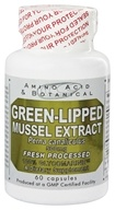 Amino Acid & Botanical - Green-Lipped Mussel Extract 500 mg. - 60 Capsules - $15.19