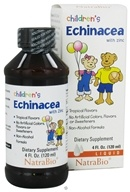 NatraBio - Children's Liquid Echinacea With Zinc Tropical Flavors - 4 oz. (371402325047)