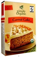Simply Organic - Cake Mix Gluten Free Carrot - 11.6 oz. - $5.34