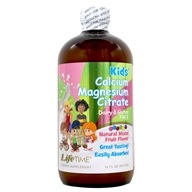 LifeTime Vitamins - Kids' Liquid Calcium Magnesium Citrate Bubble Gum Flavor - 16 oz. (053232400179)