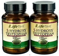 LifeTime Vitamins - 5-Hydroxy Tryptophan (30+30) Twin Pack 100 mg. - 60 Capsules (053232422874)