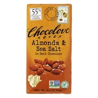 Chocolove - Dark Chocolate Bar Almonds & Sea Salt - 3.2 oz. by Chocolove