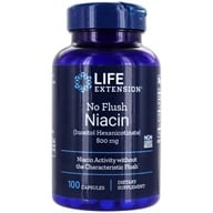 Image of Life Extension - No Flush Niacin 800 mg. - 100 Capsules