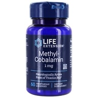 Image of Life Extension - MethylCobalamin Vanilla Flavor 1 mg. - 60 Lozenges