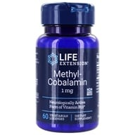 Life Extension - MethylCobalamin Vanilla Flavor 1 mg. - 60 Lozenges (737870153665)